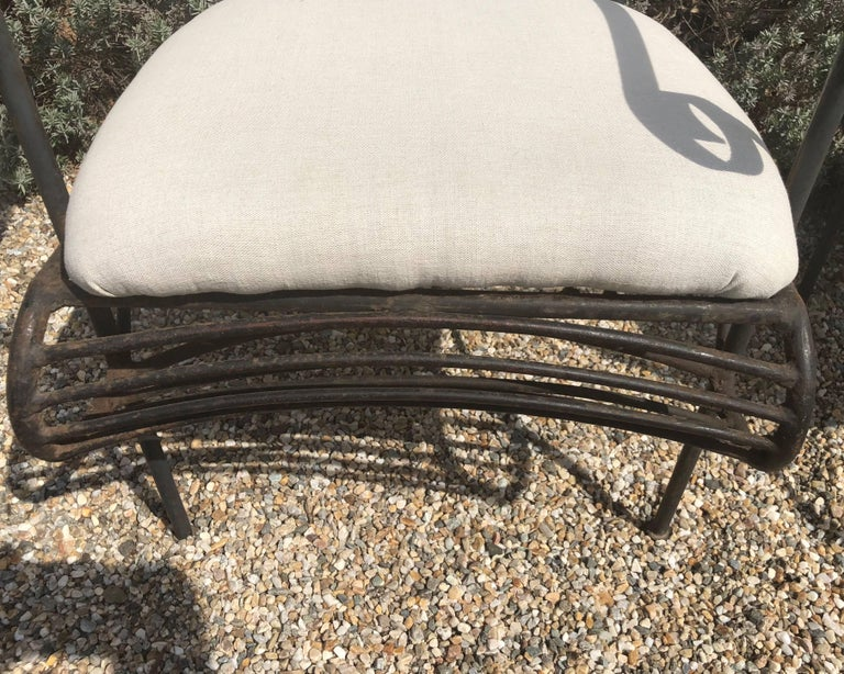 Pair of French Wrought Iron Garden Lounge Chairs For Sale 5