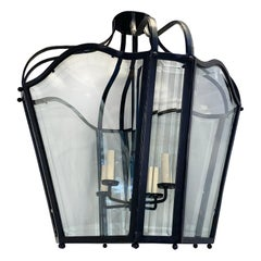 Pair of French Wrought Iron Lanterns, Sold Individually
