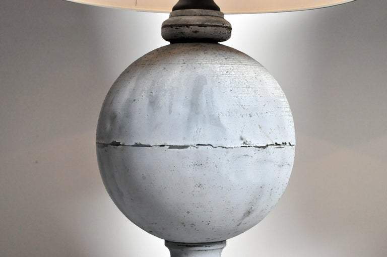 Pair of French Zinc Architectural Finial Lamps For Sale 7