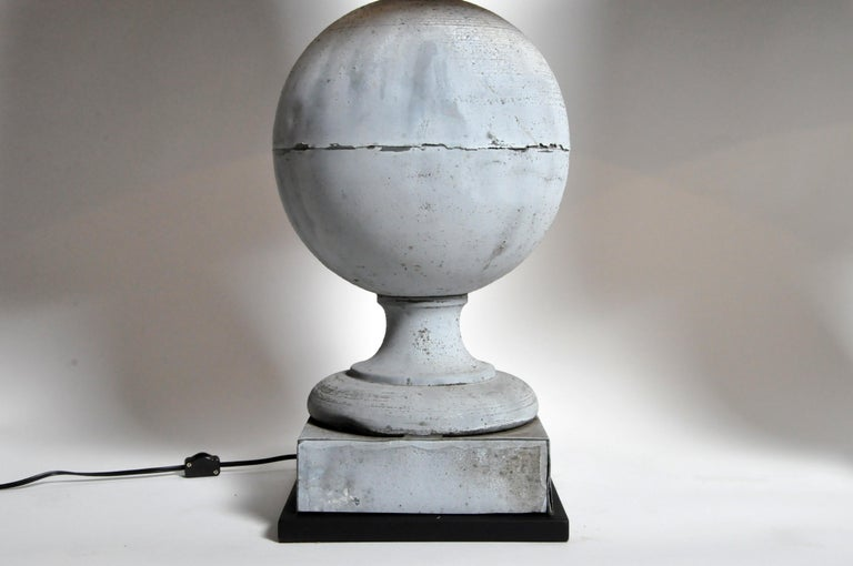 Pair of French Zinc Architectural Finial Lamps For Sale 9
