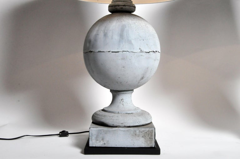 Pair of French Zinc Architectural Finial Lamps For Sale 10