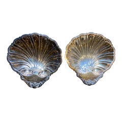 Pair of Friedman Silver Co. '1908-1960' Silver Plate Shell Dishes, Marked