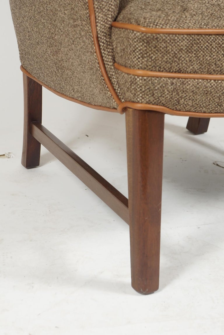 Pair of Frits Henningsen Armchairs For Sale 3