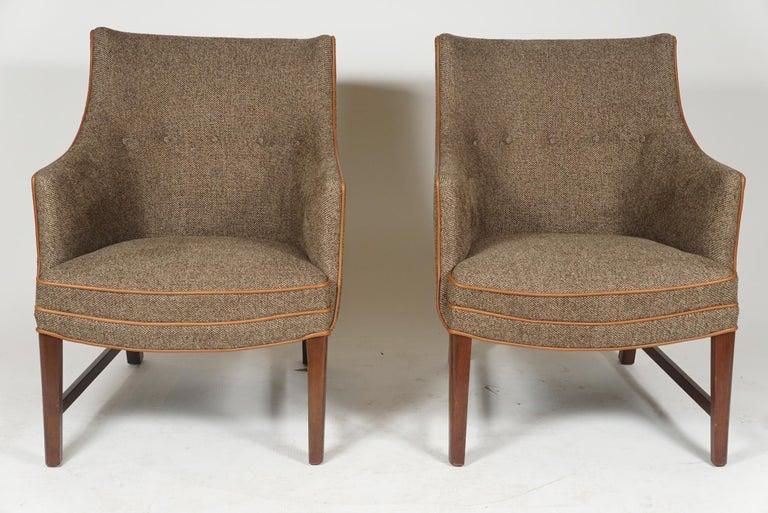 Scandinavian Modern Pair of Frits Henningsen Armchairs For Sale