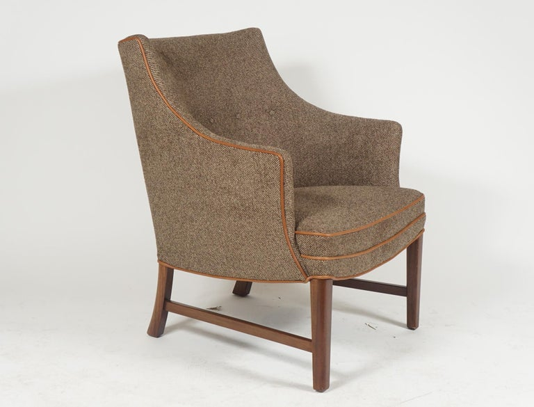Danish Pair of Frits Henningsen Armchairs For Sale
