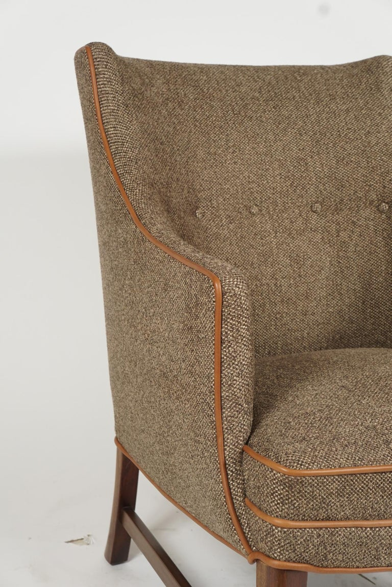 Pair of Frits Henningsen Armchairs For Sale 1