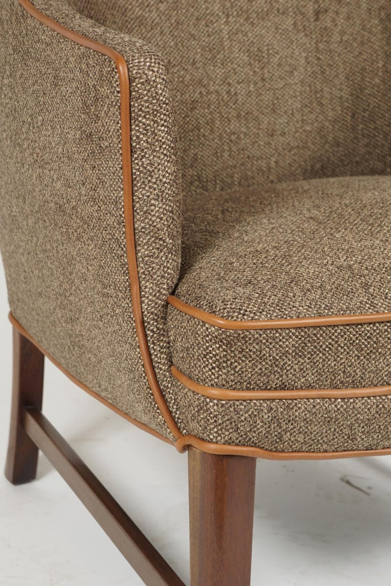 Pair of Frits Henningsen Armchairs For Sale 2