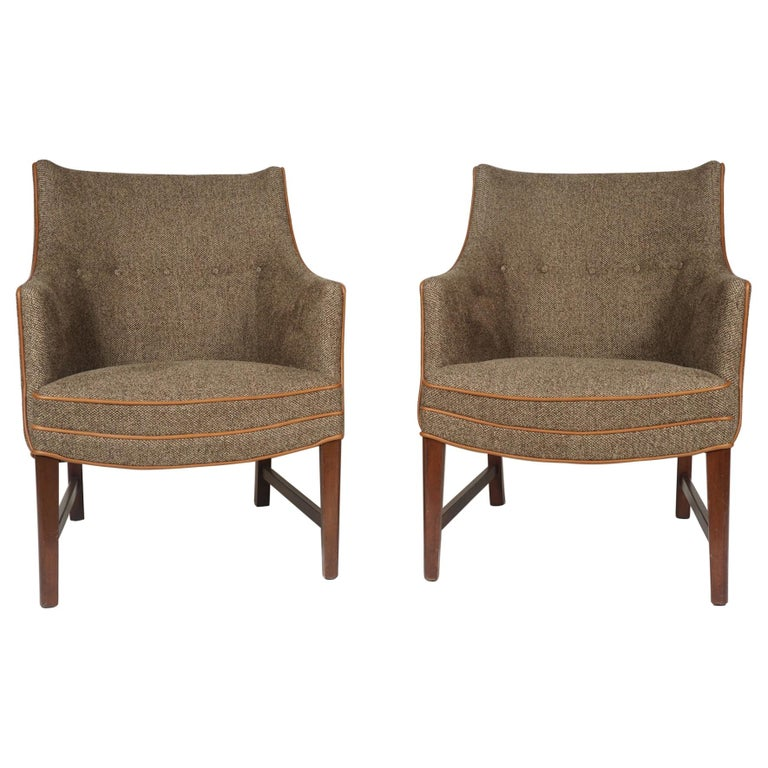 Pair of Frits Henningsen Armchairs For Sale