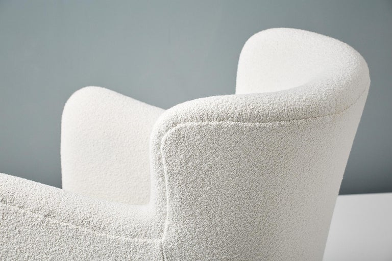 Pair of Fritz Hansen 1940s Boucle Armchairs For Sale 5