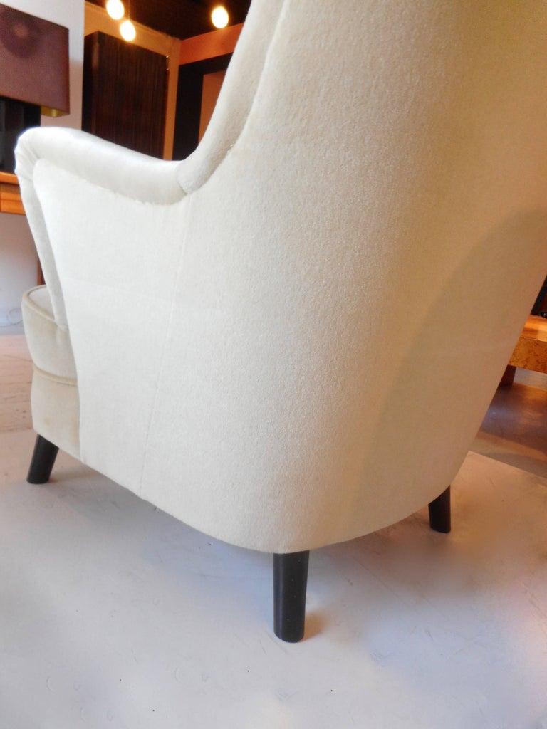 Danish Pair of Fritz Hansen 1940s Easy Chairs, Denmark For Sale