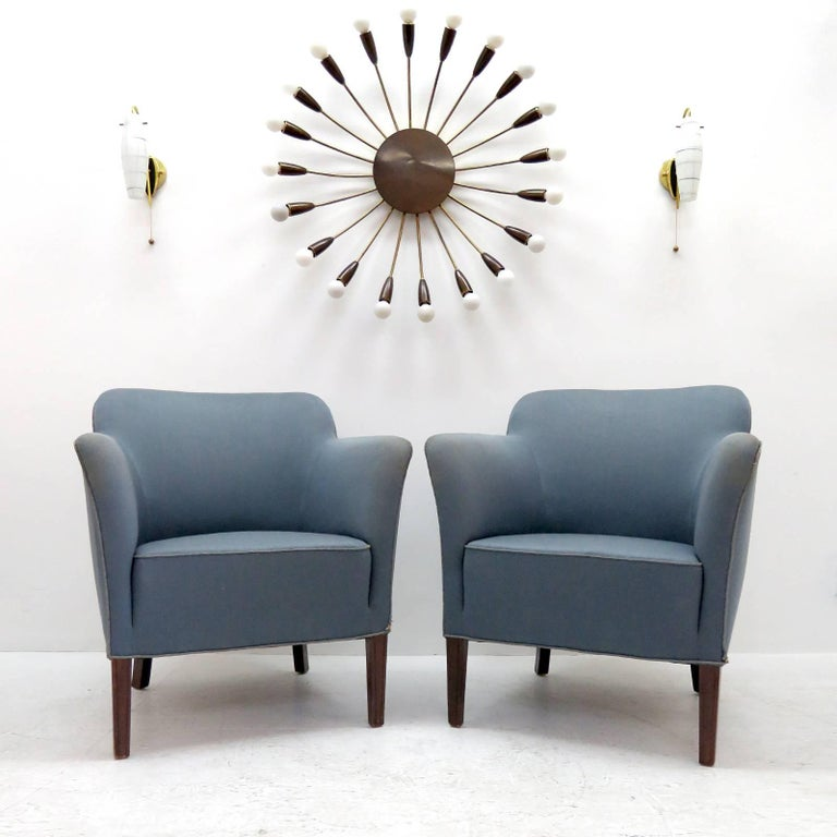 Pair of Fritz Hansen Club Chairs 'Model 1146', 1940 For Sale 3