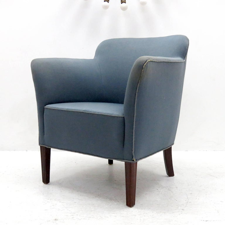 Scandinavian Modern Pair of Fritz Hansen Club Chairs 'Model 1146', 1940 For Sale
