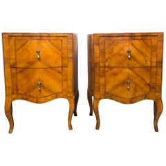 Pair of Fruitwood Bedside Commodes