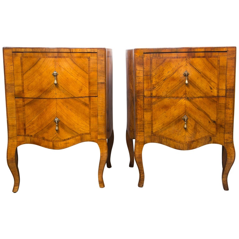 Pair of Fruitwood Bedside Commodes For Sale
