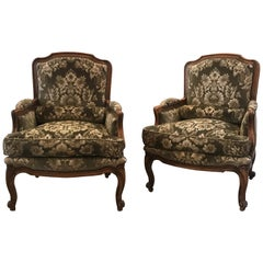 Pair of Fruitwood Berger Chairs