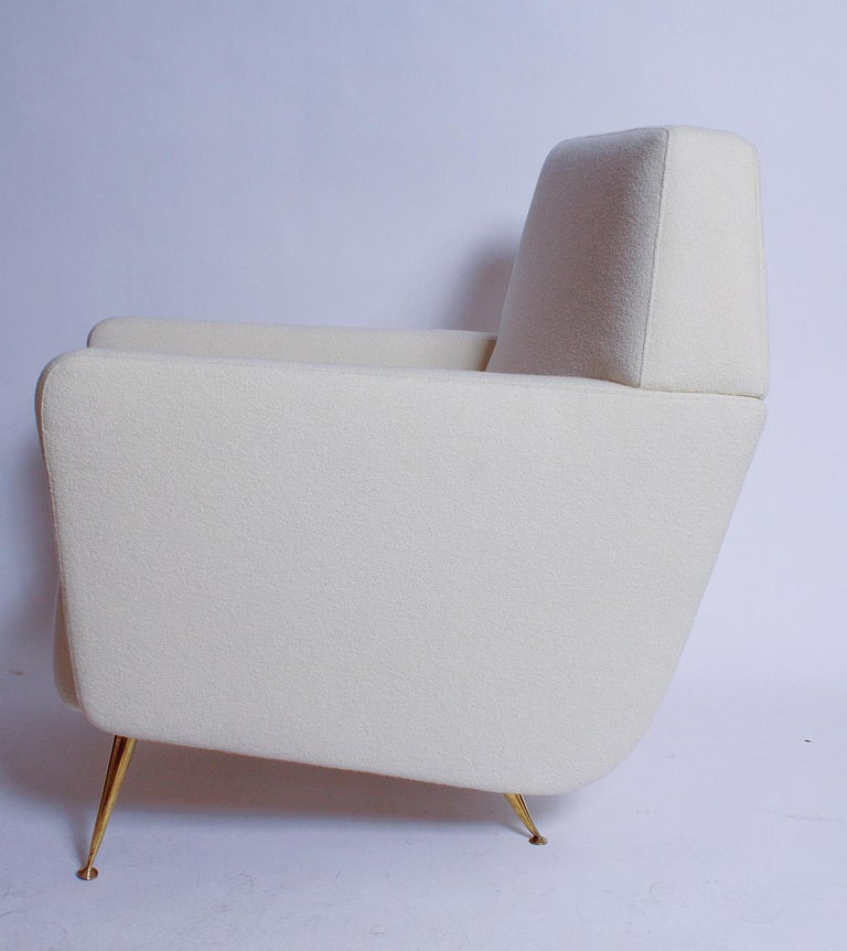 Mid-Century Modern Pair of Fully Restored 1950s Italian Lounge Chairs For Sale