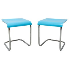 Pair of Fully Restored Cantilever Stools H-22 by Mart Stam for Slezák, 1930s