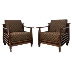 Pair of Fully Restored Functionalist Armchairs, 1930s, Austria, Bauhaus Period