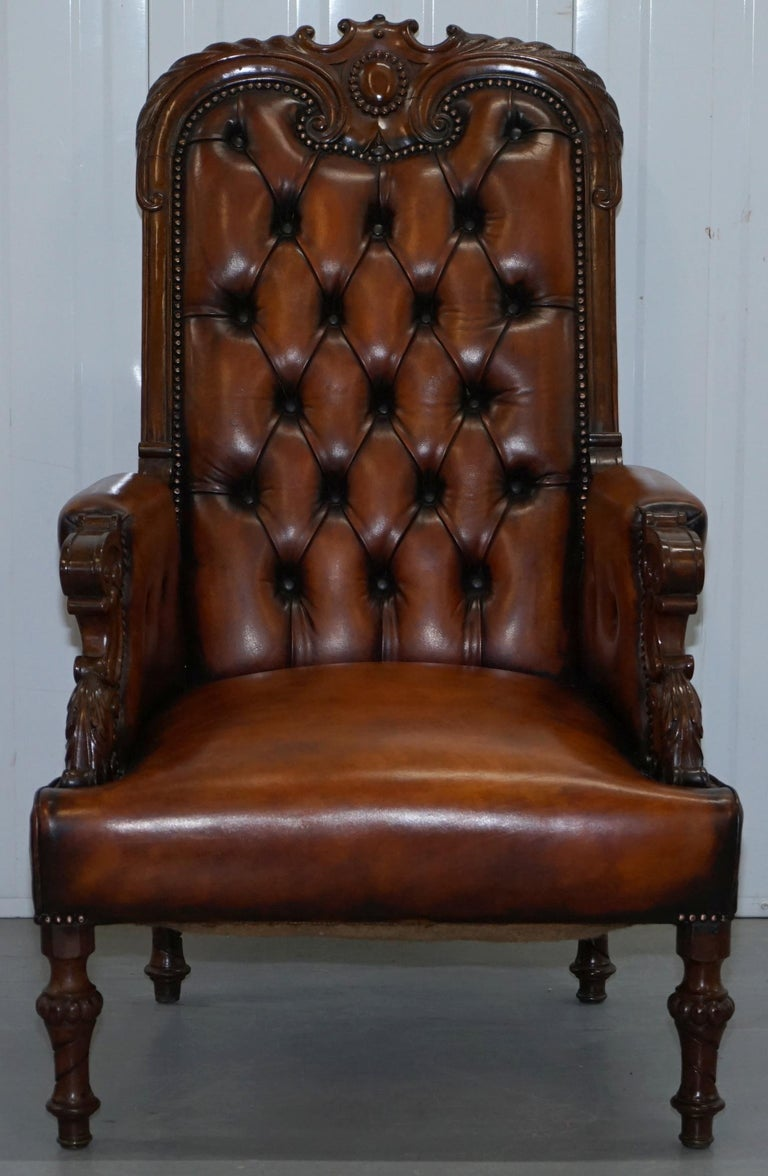Pair of Fully Restored Show Wood Frame Chesterfield ...