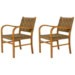 Pair of Functionalist Armchairs by Axel Larsson, Sweden, 1930s
