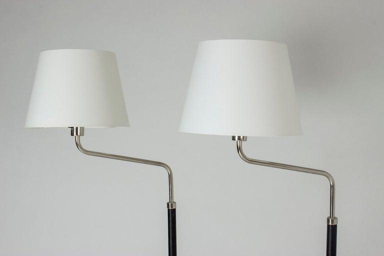 Swedish Pair of Functionalist Floor Lamps by Bertil Brisborg For Sale
