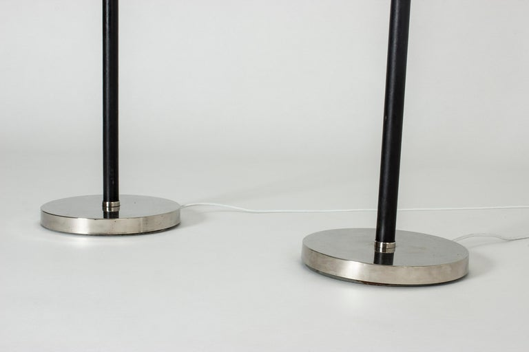 Pair of Functionalist Floor Lamps by Bertil Brisborg In Good Condition For Sale In Stockholm, SE
