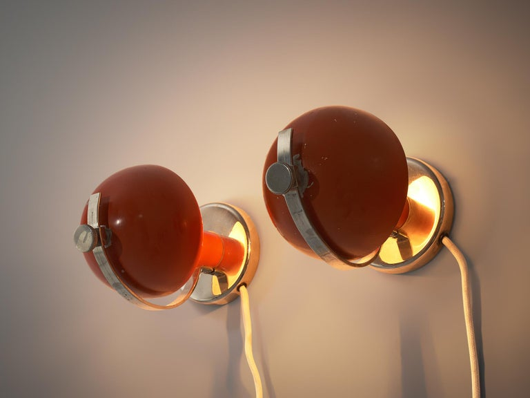 Scandinavian Modern Pair of Functionalist Table/Wall Lights by Erik Tidstrand, 1930s For Sale