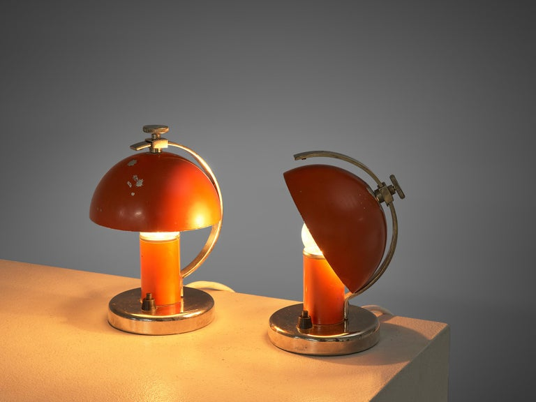 Pair of Functionalist Table/Wall Lights by Erik Tidstrand, 1930s For Sale 1