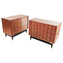 Pair of G Plan Teak E Gomme Tola Chest of Drawers Vintage Midcentury
