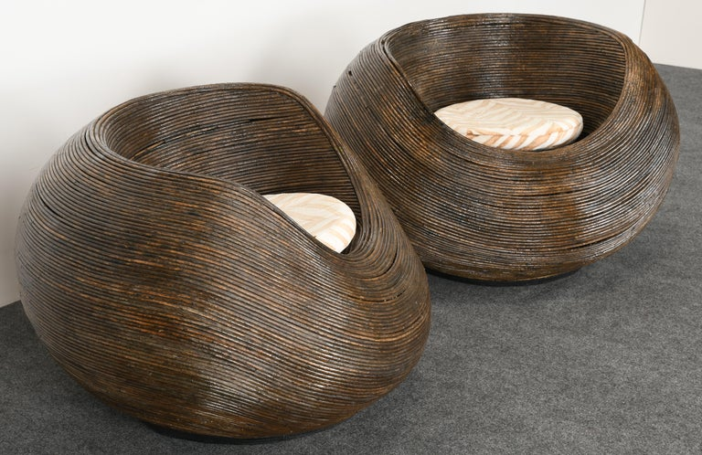 Upholstery Pair of Rattan
