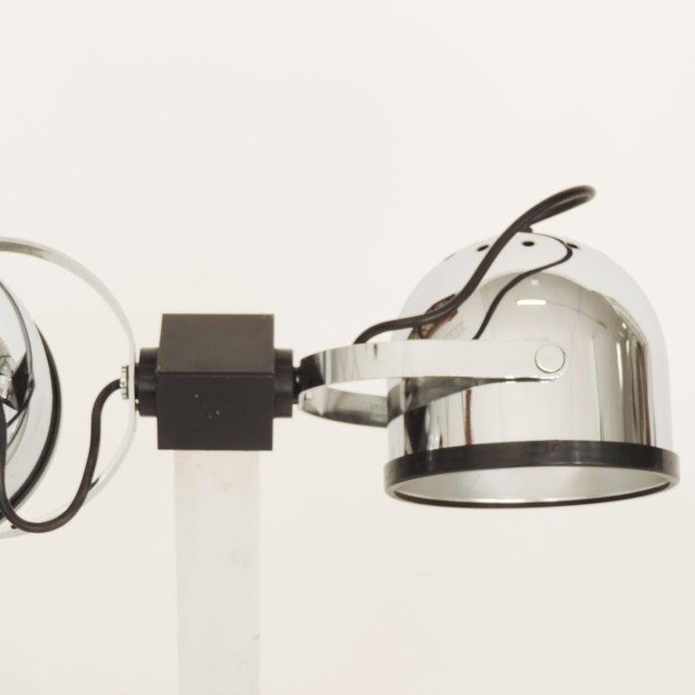 Modern Pair of Gae Aulenti & Livio Castiglioni Trepiù Table Lamps for Stilnovo, 1972 For Sale