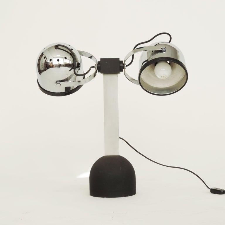 Pair of Gae Aulenti & Livio Castiglioni Trepiù Table Lamps for Stilnovo, 1972 In Good Condition For Sale In Milan, IT
