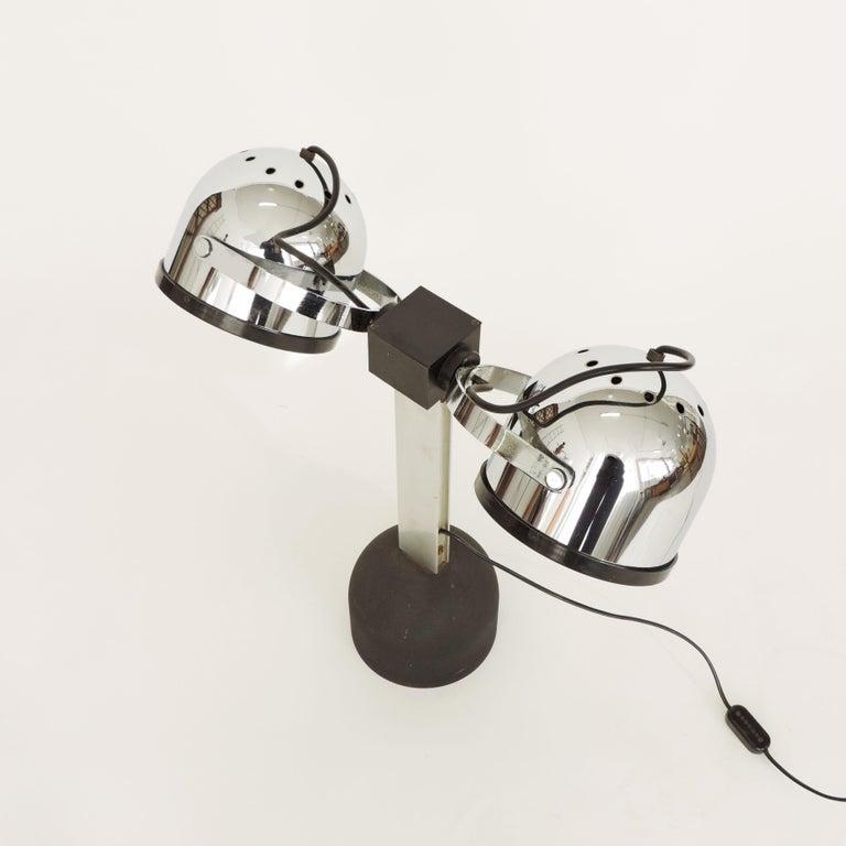 Pair of Gae Aulenti & Livio Castiglioni Trepiù Table Lamps for Stilnovo, 1972 For Sale 1