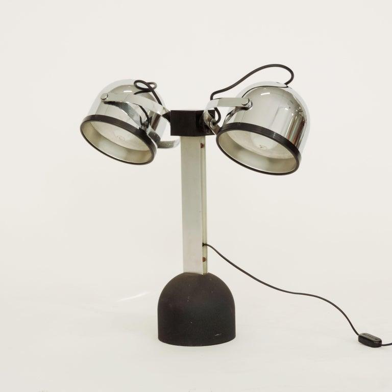 Pair of Gae Aulenti & Livio Castiglioni Trepiù Table Lamps for Stilnovo, 1972 For Sale 2