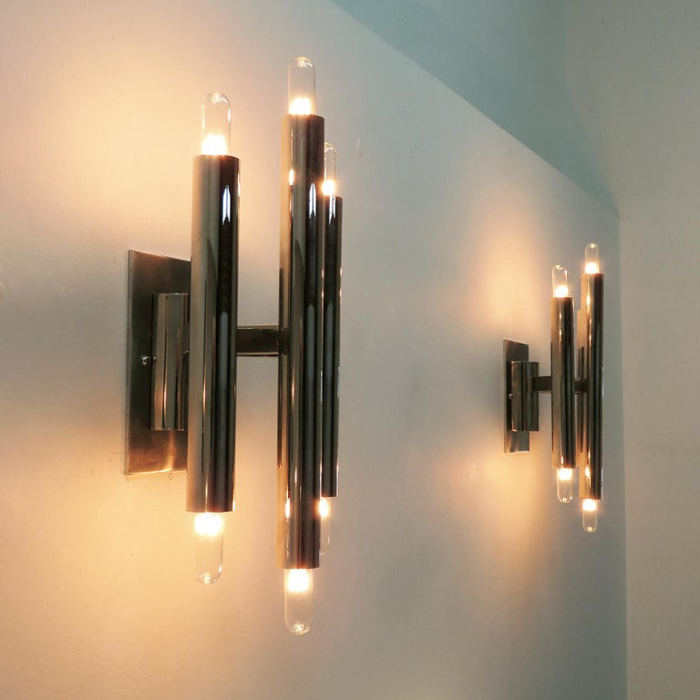 Pair of Gaetano Sciolari Wall Lights For Sale 2