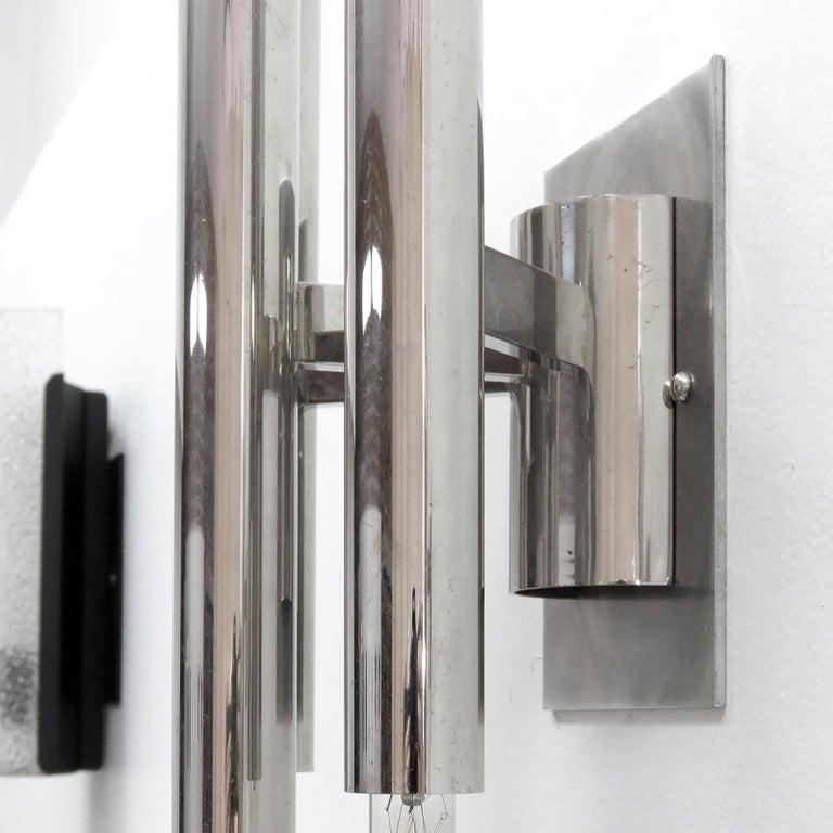 Pair of Gaetano Sciolari Wall Lights In Good Condition For Sale In Los Angeles, CA