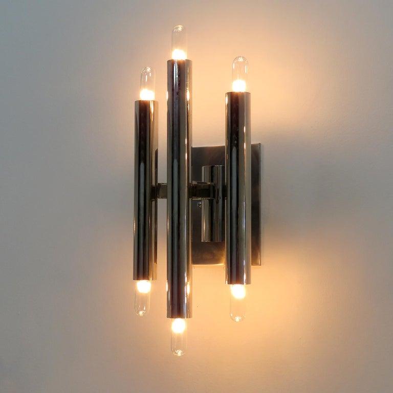 Pair of Gaetano Sciolari Wall Lights For Sale 1