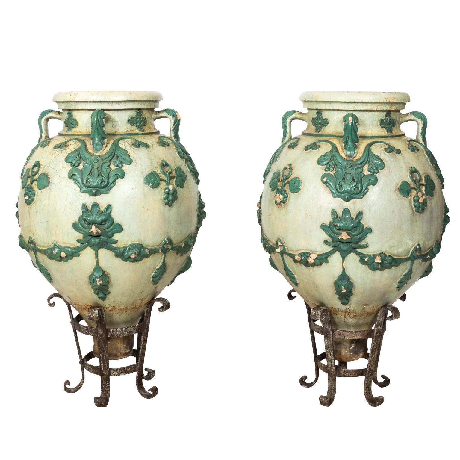 Pair of Galloway Pots, circa 1880s