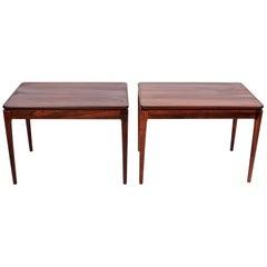 Pair of Ganddal Møbelfabrik Rosewood End Tables, circa 1960