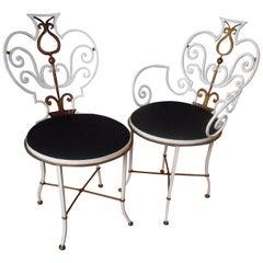 Pair of Garden Chairs by G. Poillerat