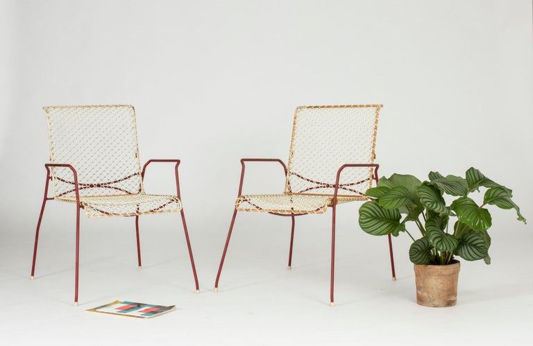 Pair of Garden Chairs from Grythyttan For Sale 3