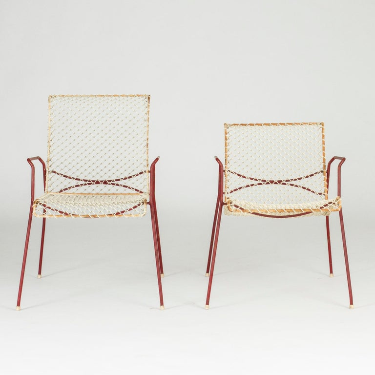 Scandinavian Modern Pair of Garden Chairs from Grythyttan For Sale