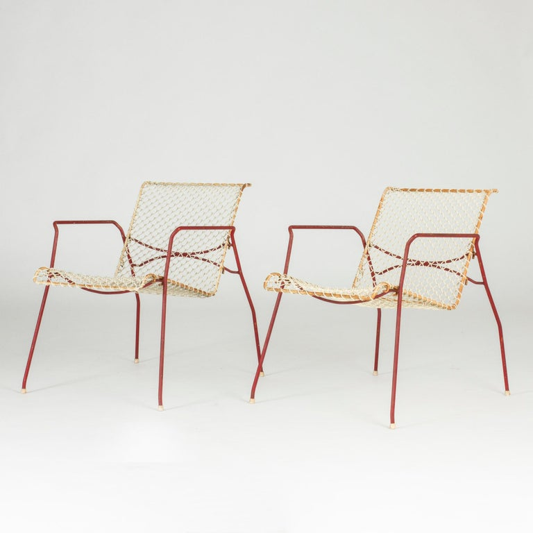 Swedish Pair of Garden Chairs from Grythyttan For Sale
