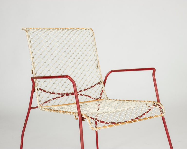 Mid-20th Century Pair of Garden Chairs from Grythyttan For Sale