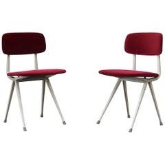"""Pair of Garnet Velvet 'Result"""" Chairs"""