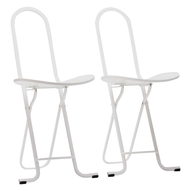 Pair of Gastone Rinaldi Dafne Folding Chairs For Sale
