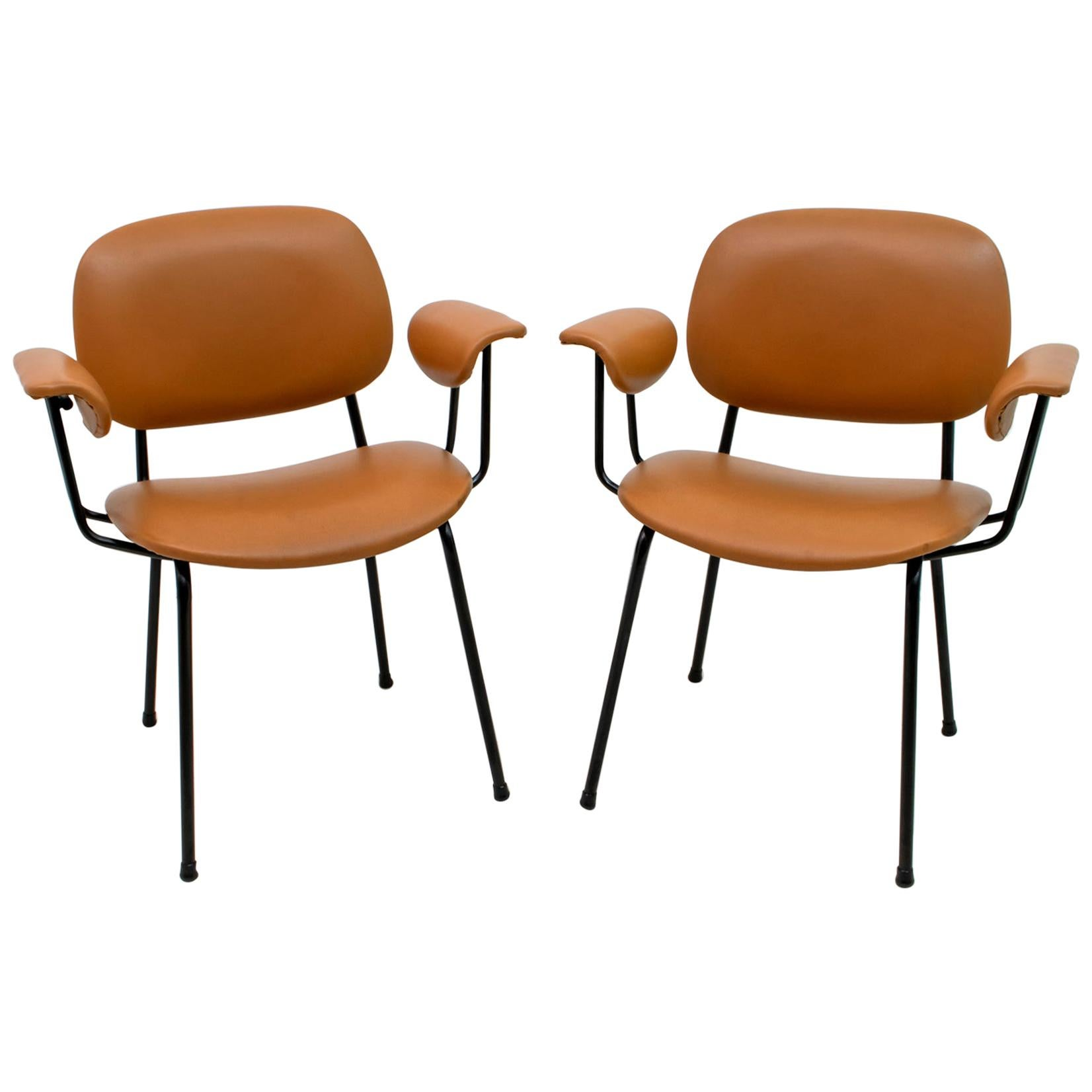 Pair of Gastone Rinaldi Mid-Century Modern Italian Armchairs for RIMA, 1960s