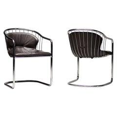 Pair of Gastone Rinaldi Wire Chairs