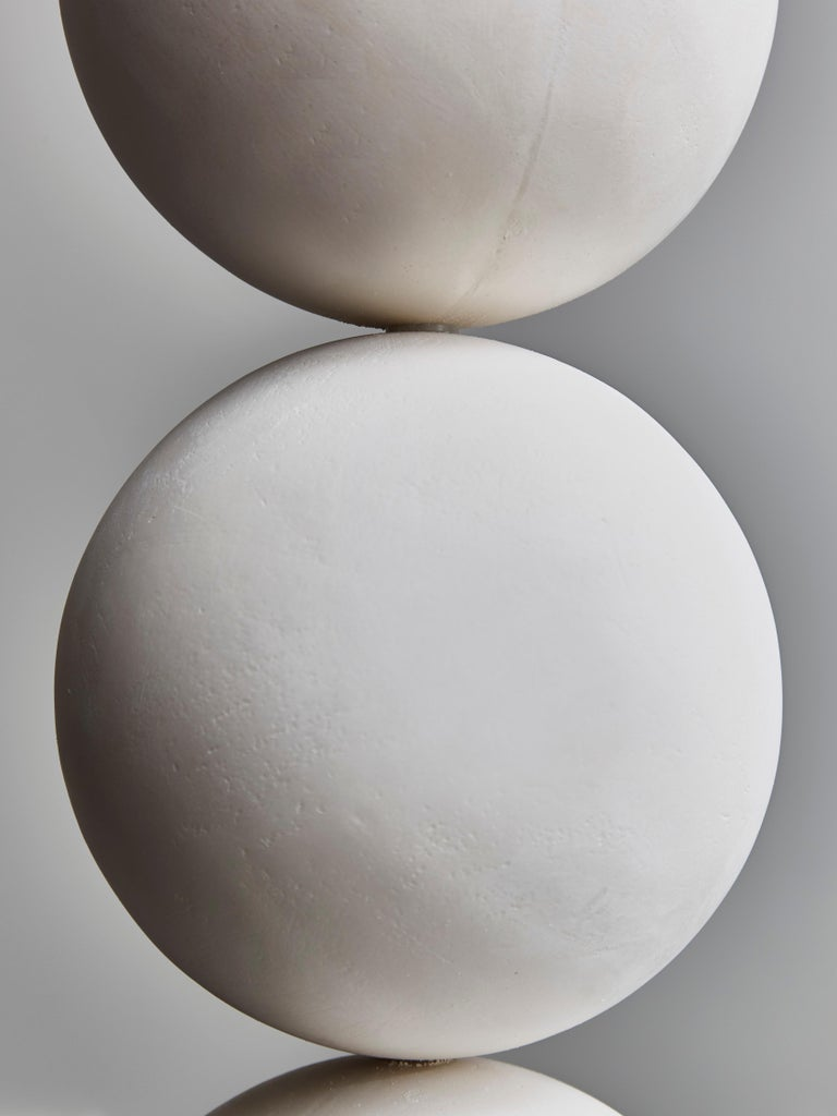 Pair of Geometrical Plaster Table Lamps In New Condition For Sale In Saint-Ouen, IDF