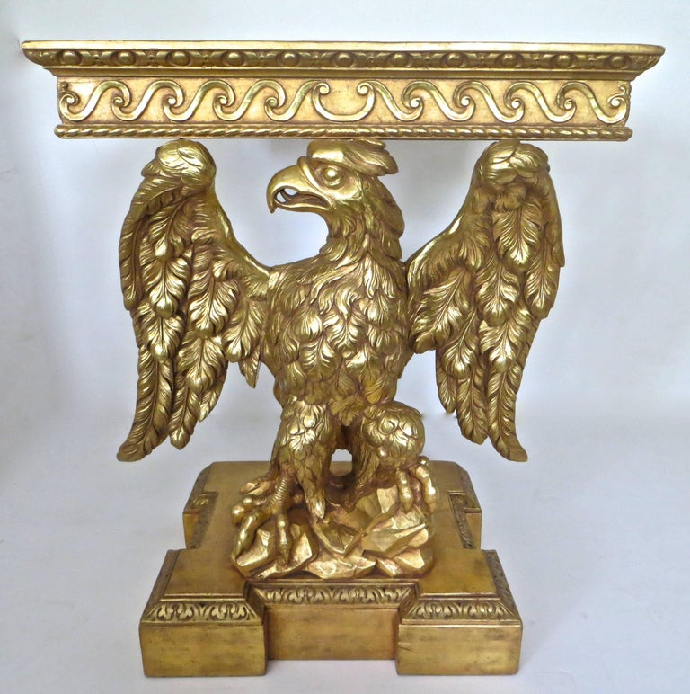 Pair of George II Carved Giltwood Pier Tables in the Manner of William Kent For Sale 4